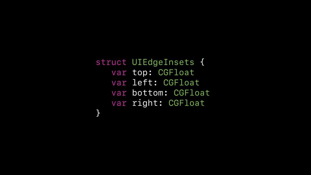 struct UIEdgeInsets { var top: CGFloat var left...