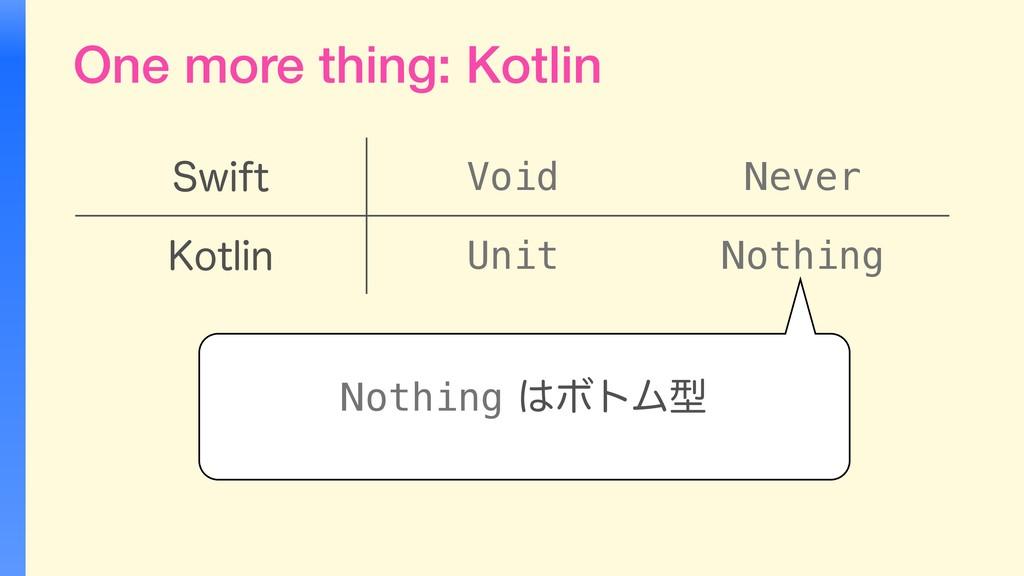 One more thing: Kotlin 4XJGU Void Never ,PUMJO ...