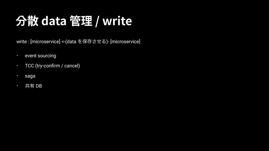 㒻丆EBUB畘杼XSJUF write : [microservice] <-(da...