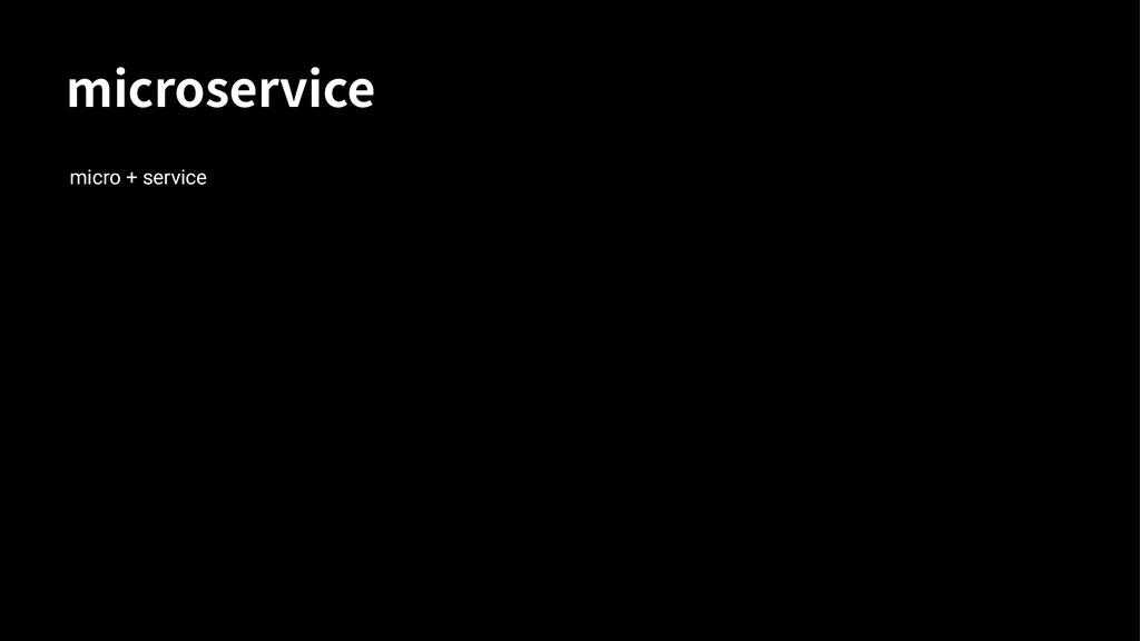 NJDSPTFSWJDF micro + service