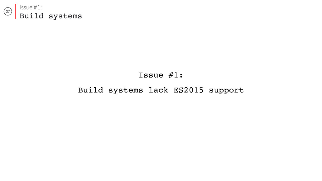 37 Issue #1: Build systems Issue #1: Build syst...