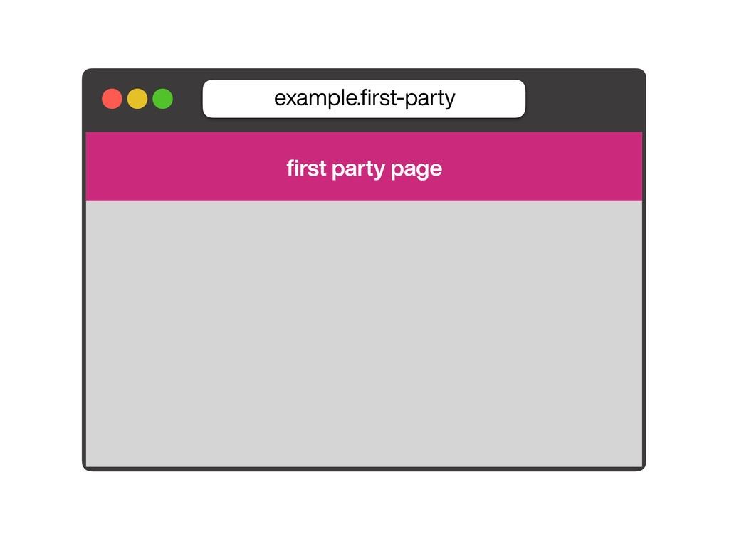 example.first-party first party page