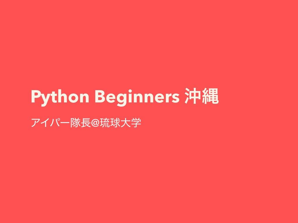 Python Beginners ԭೄ ΞΠύʔୂ@ླྀٿେֶ