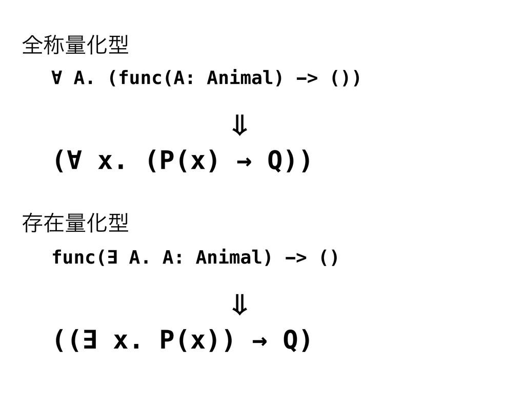 (∀ x. (P(x) → Q)) 䁭 શশྔԽܕ ((∃ x. P(x)) → Q) 䁭 ଘ...
