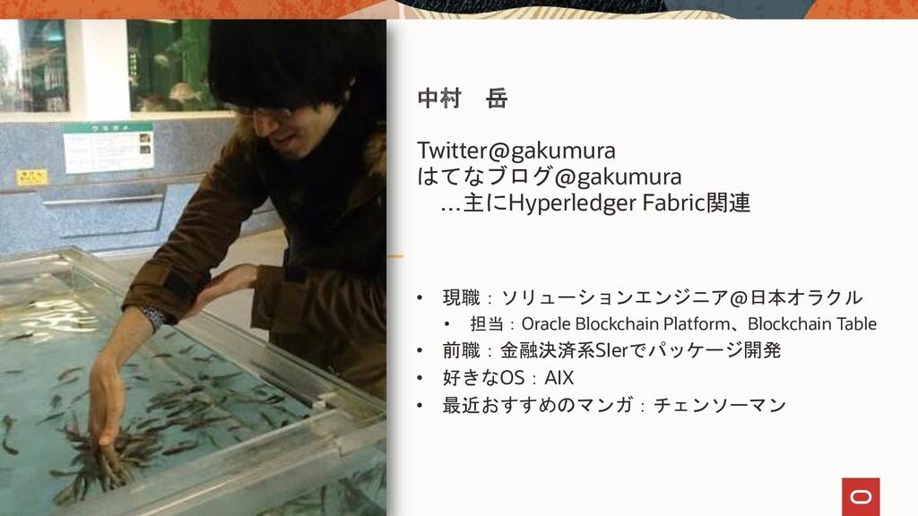 中村 岳 Twitter@gakumura はてなブログ@gakumura …主にHyperl...