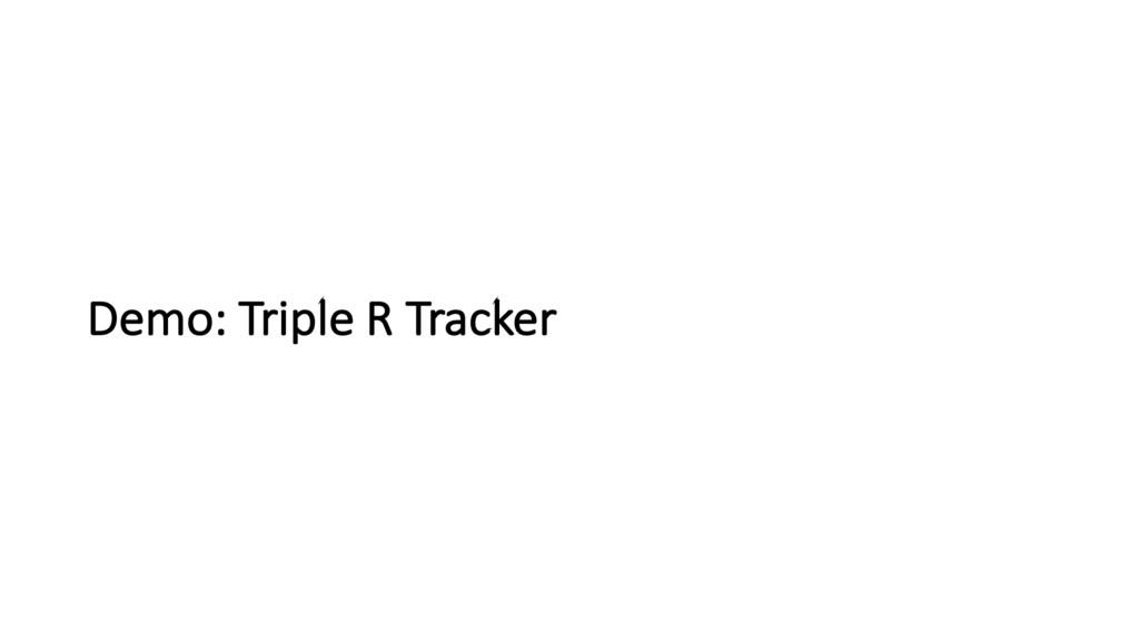 Demo: Triple R Tracker