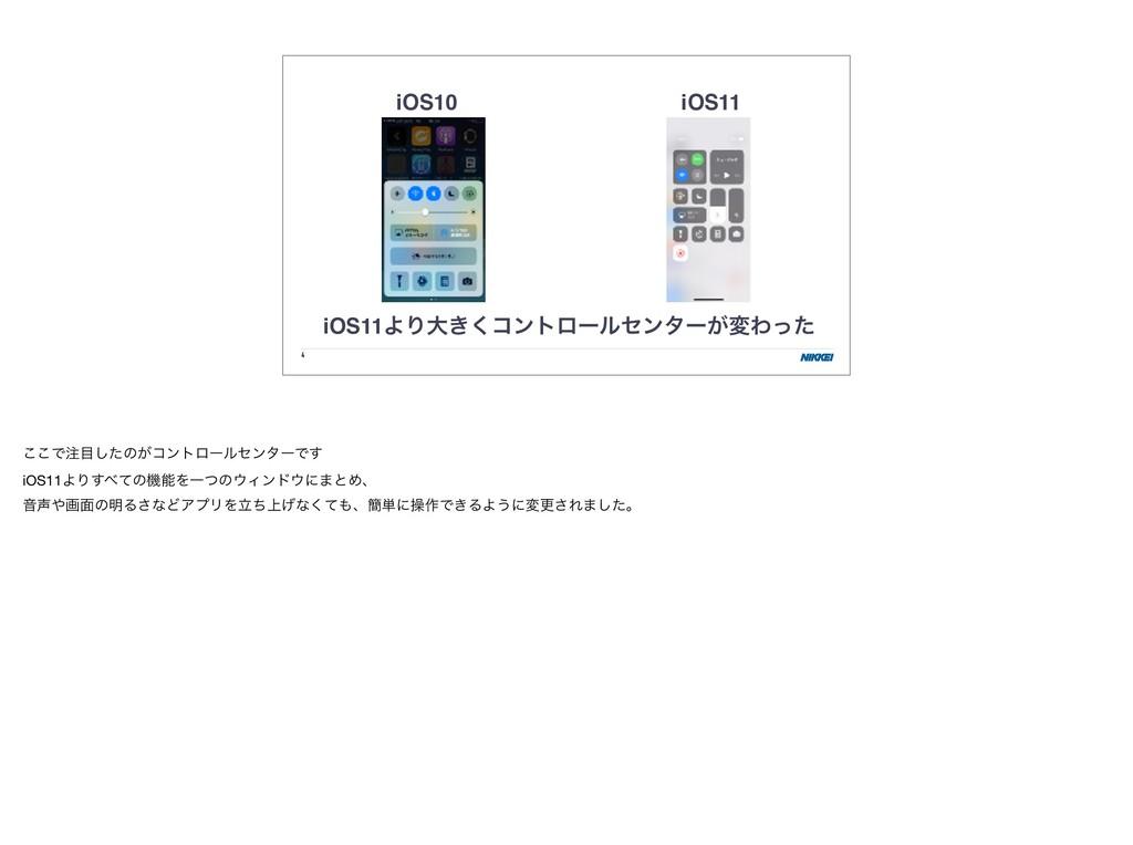 4 iOS10 iOS11 iOS11ΑΓେ͖͘ίϯτϩʔϧηϯλʔ͕มΘͬͨ ͜͜Ͱͨ͠...