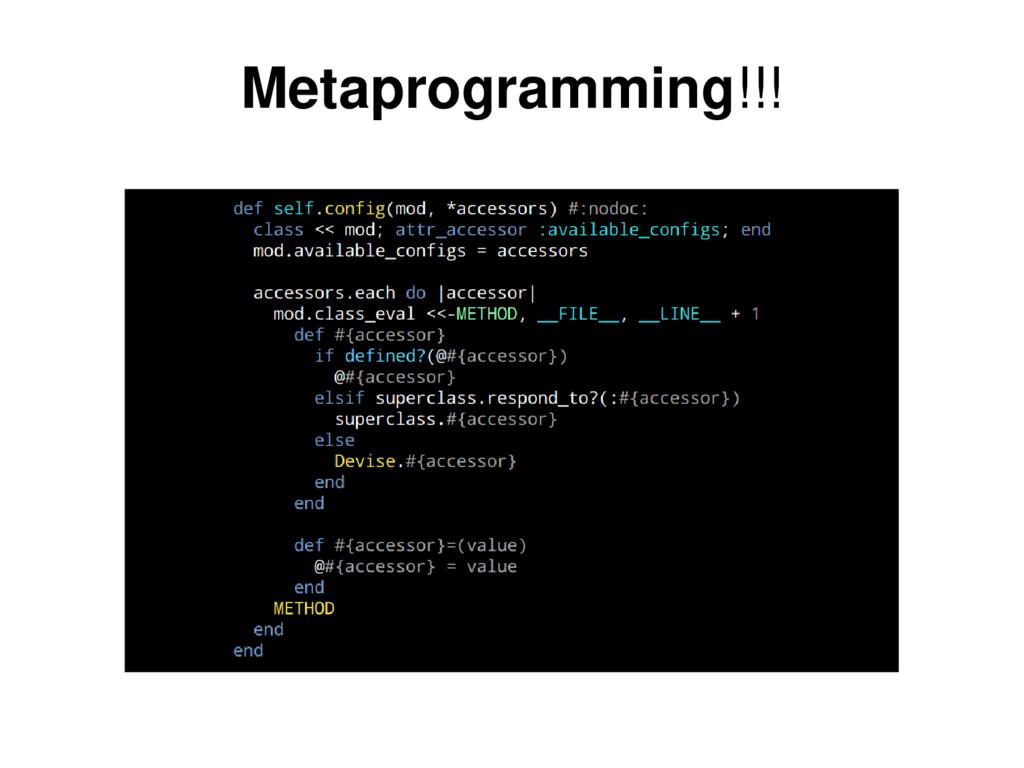 Metaprogramming!!!