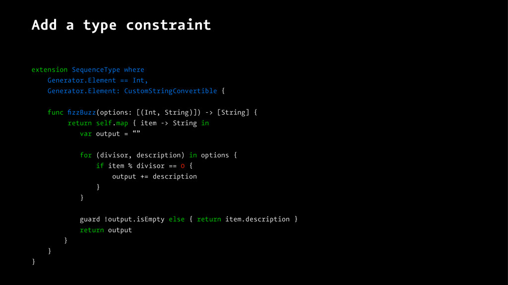 Add a type constraint extension SequenceType wh...