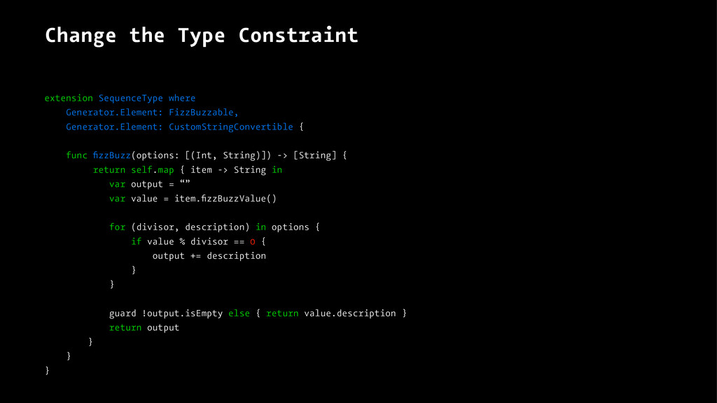 Change the Type Constraint extension SequenceTy...