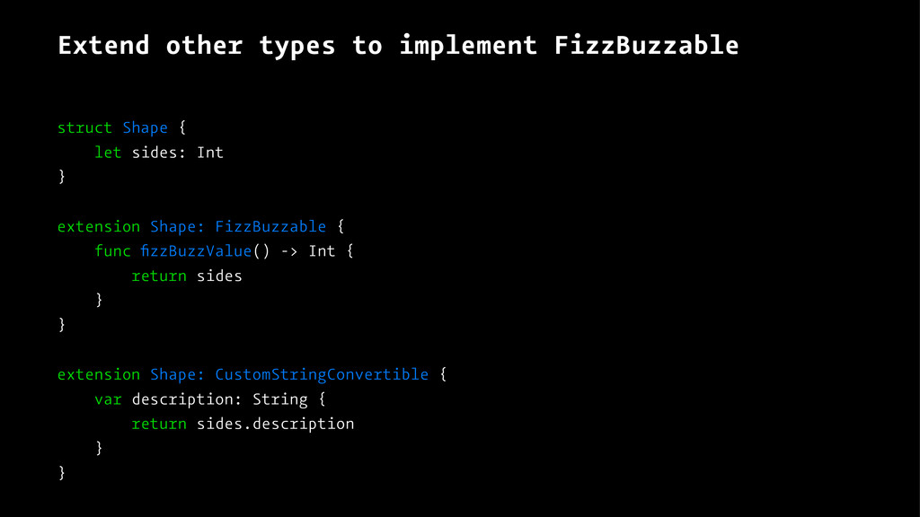 Extend other types to implement FizzBuzzable st...