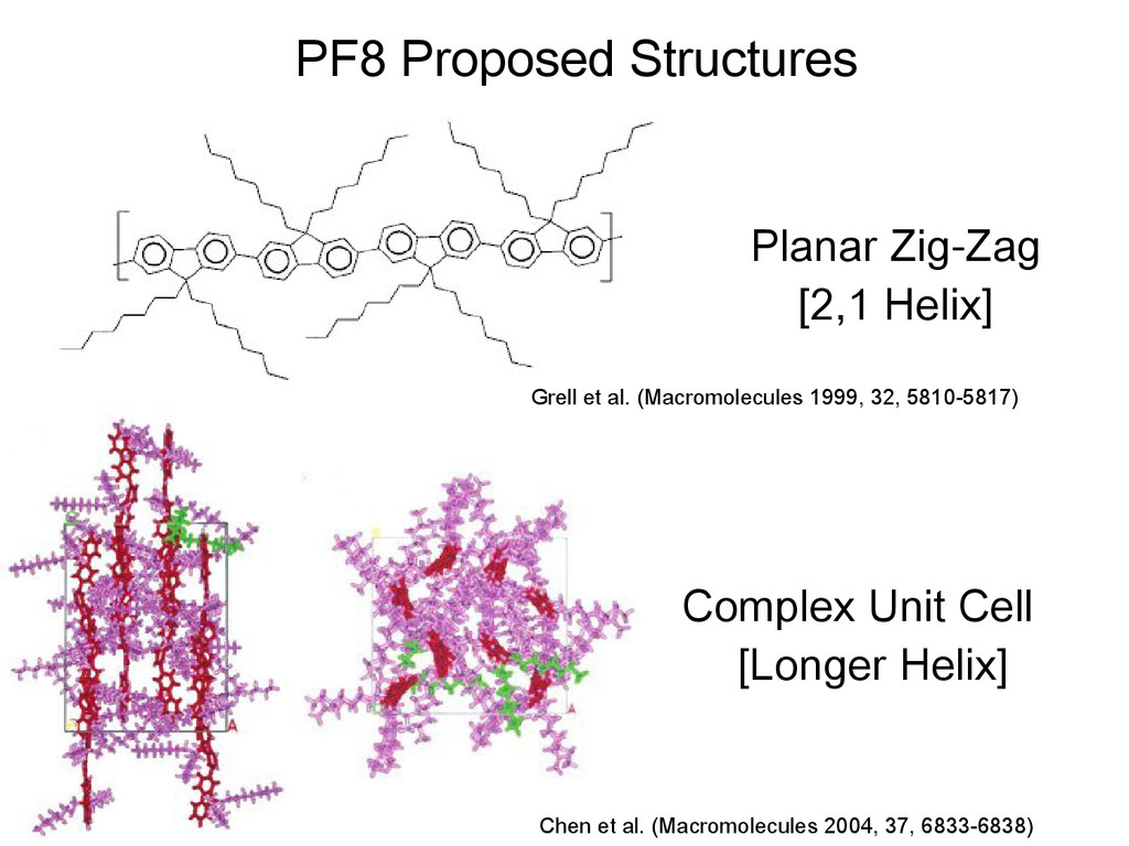 PF8 Proposed Structures Grell et al. (Macromole...
