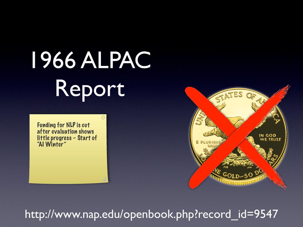 1966 ALPAC Report http://www.nap.edu/openbook.p...