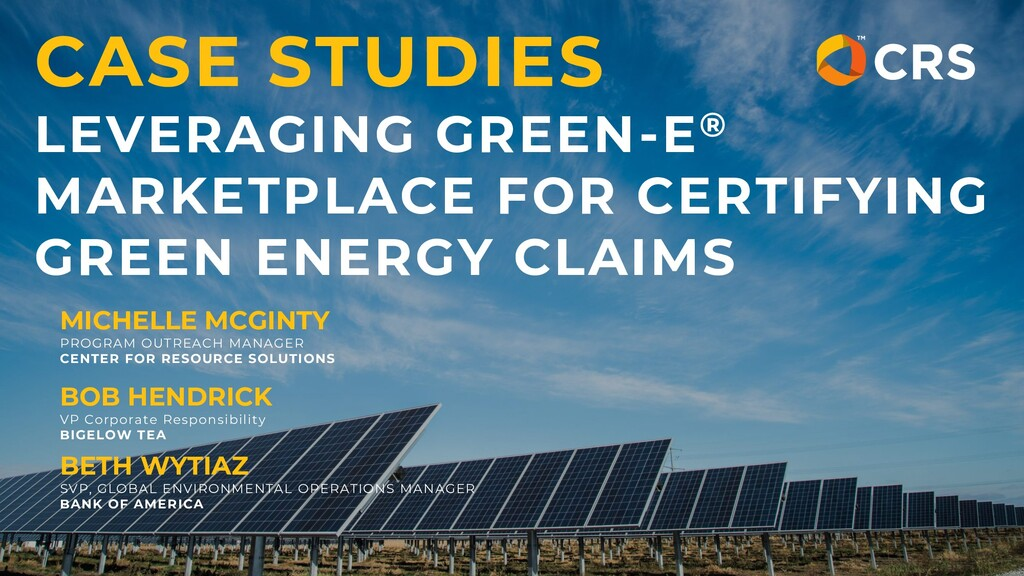 CASE STUDIES LEVERAGING GREEN-E® MARKETPLACE FO...