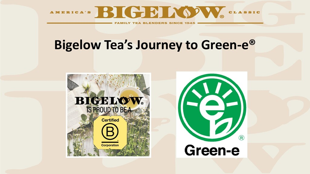 Bigelow Tea's Journey to Green-e®