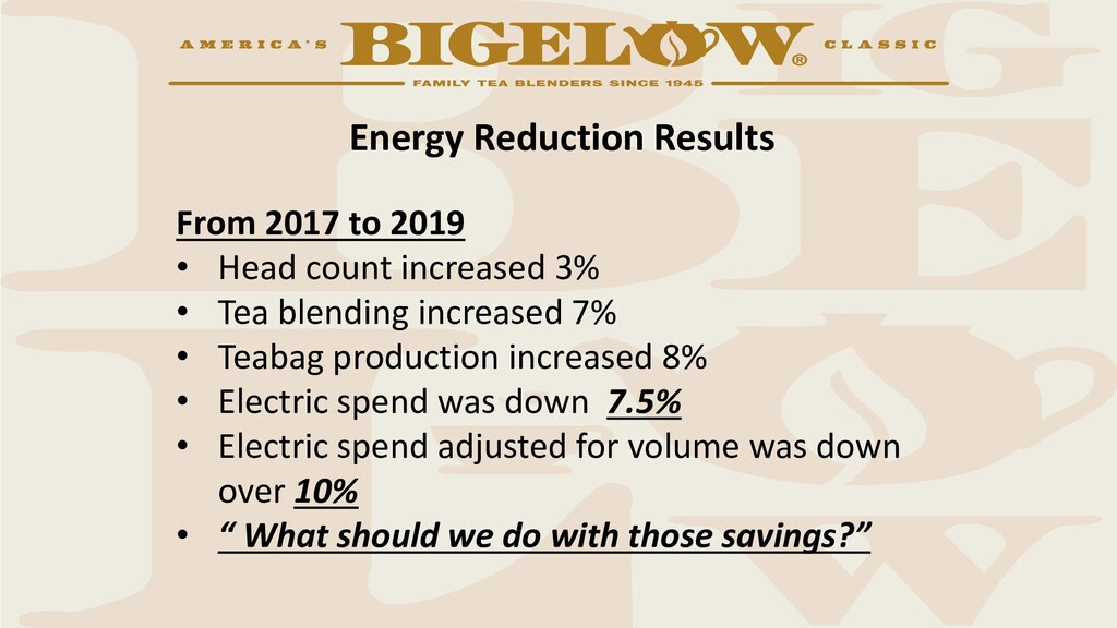 Energy Reduction Results From 2017 to 2019 • He...