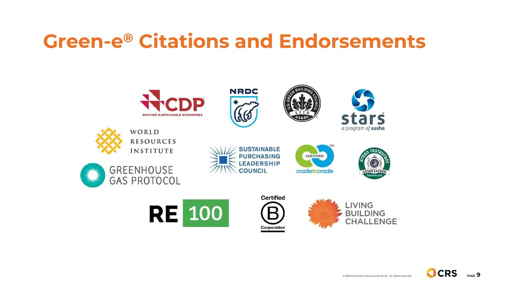 Green-e® Citations and Endorsements PAGE 9 © 20...