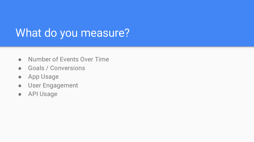 What do you measure? ● Number of Events Over Ti...