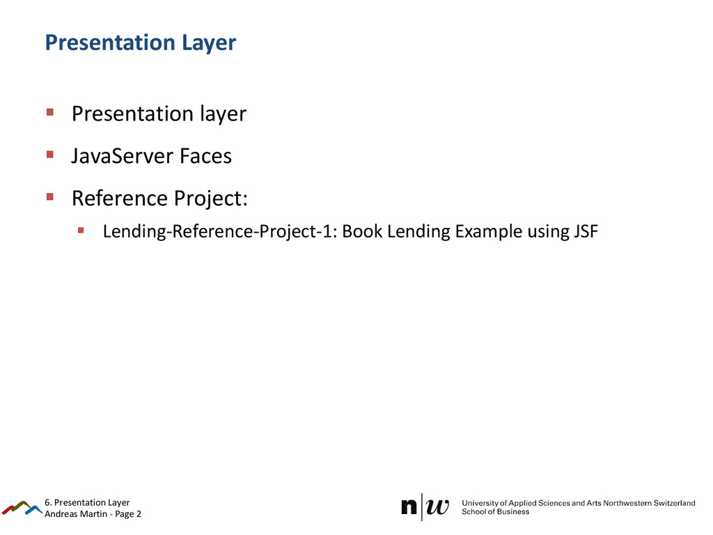 Andreas Martin - Page 2 Presentation Layer  Pr...