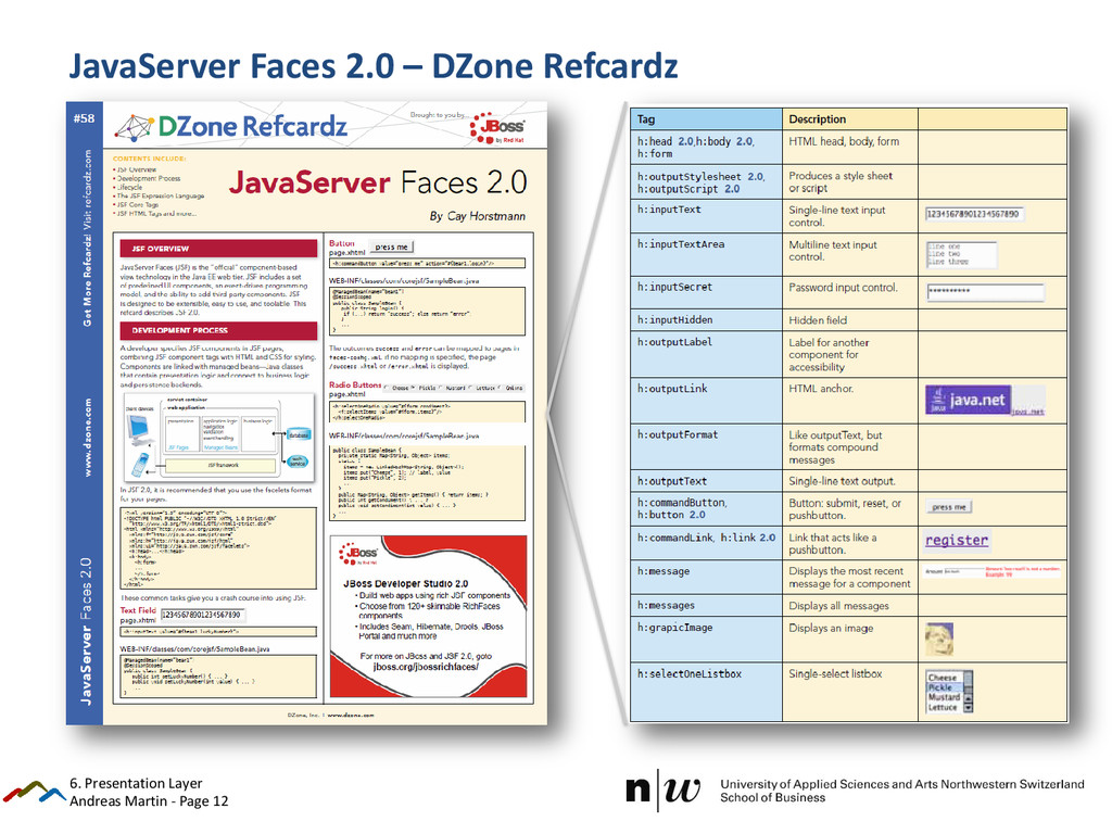 Andreas Martin - Page 12 JavaServer Faces 2.0 –...