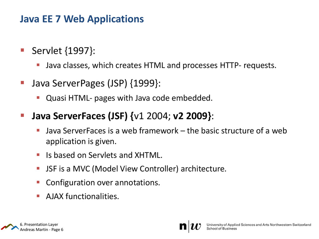 Andreas Martin - Page 6 Java EE 7 Web Applicati...