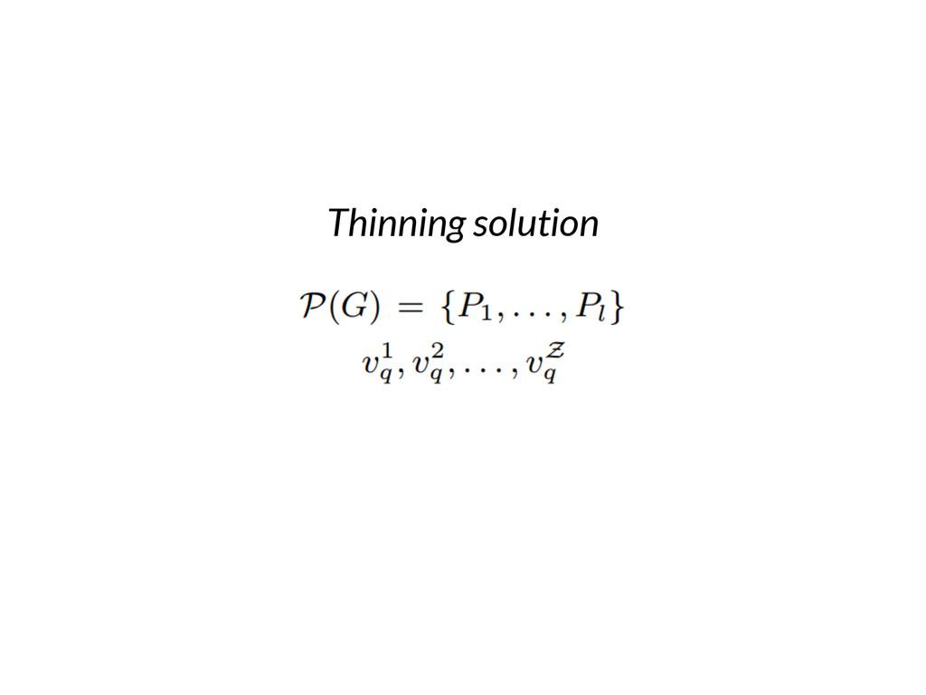 Thinning solution