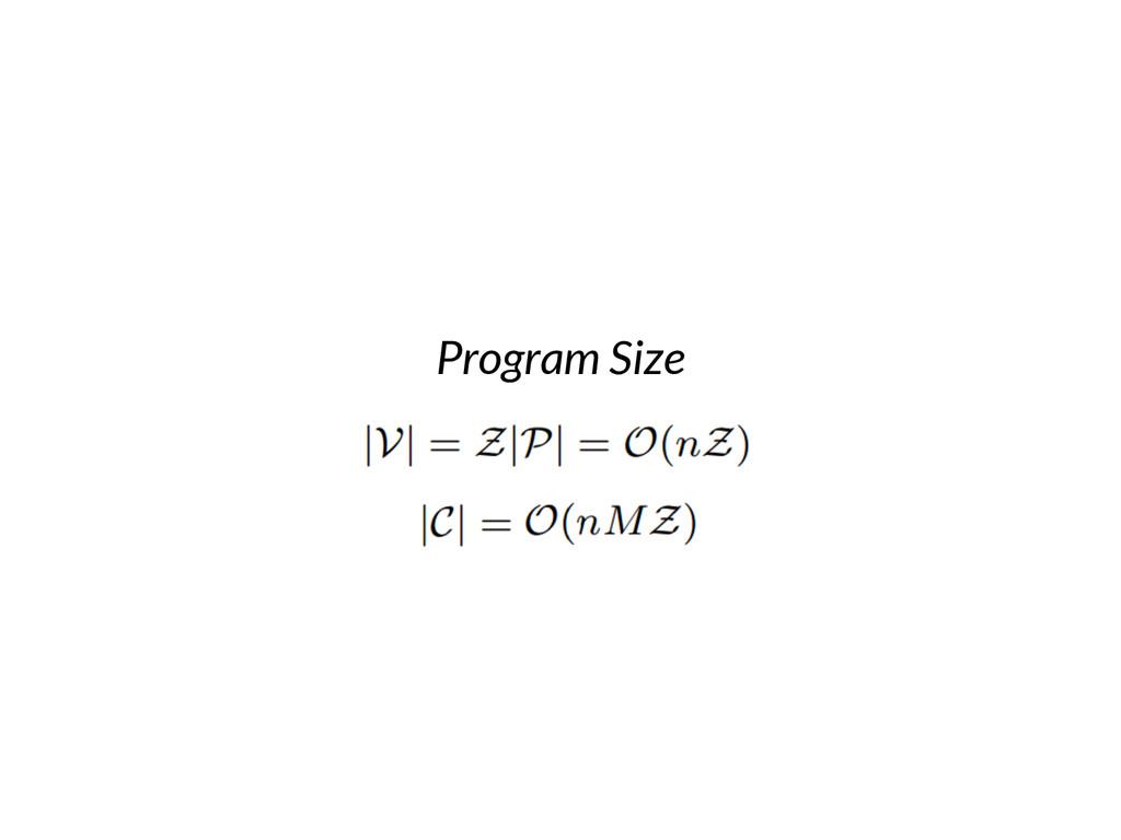 Program Size