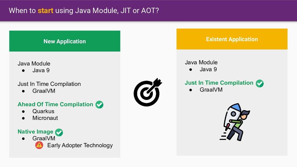 When to start using Java Module, JIT or AOT? Ne...