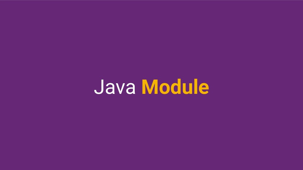 Java Module