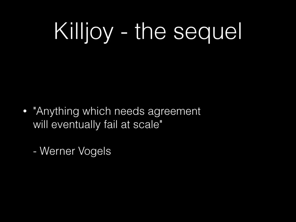 """Killjoy - the sequel • """"Anything which needs ag..."""