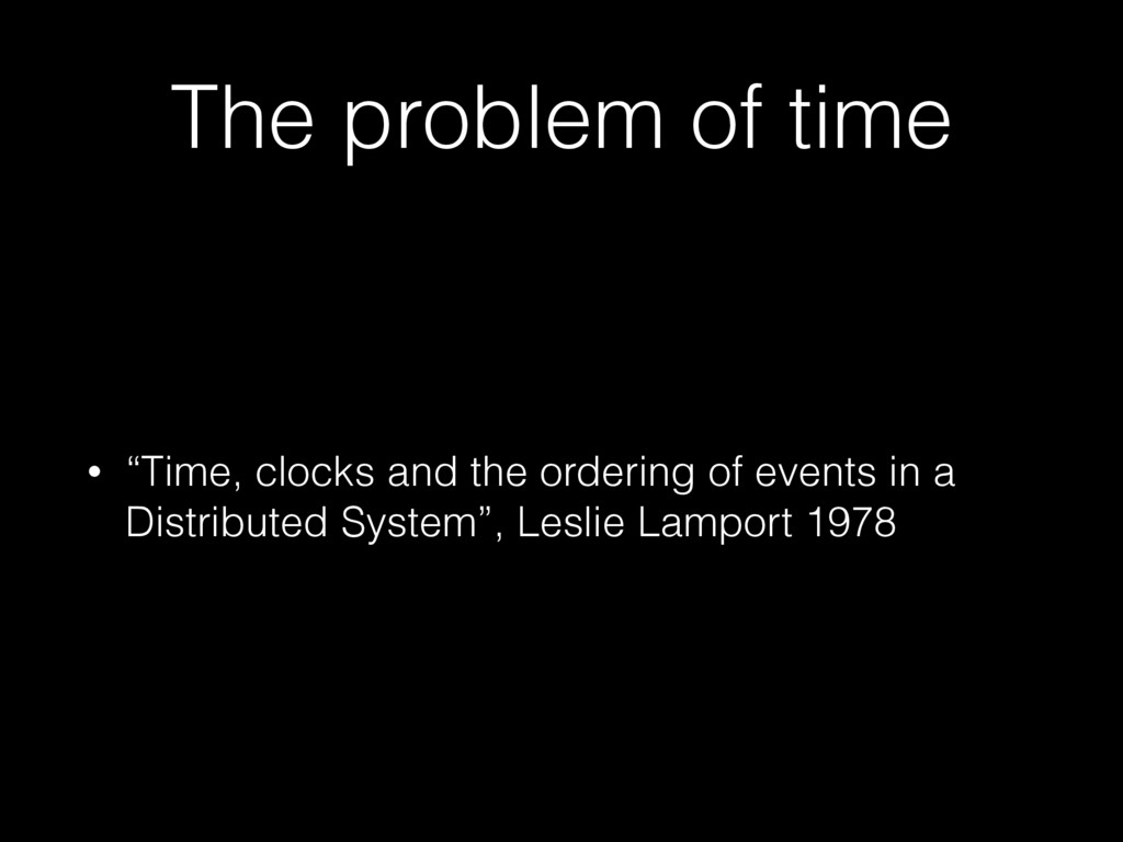 """The problem of time • """"Time, clocks and the ord..."""
