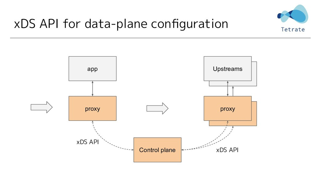 xDS API for data-plane configuration proxy app C...