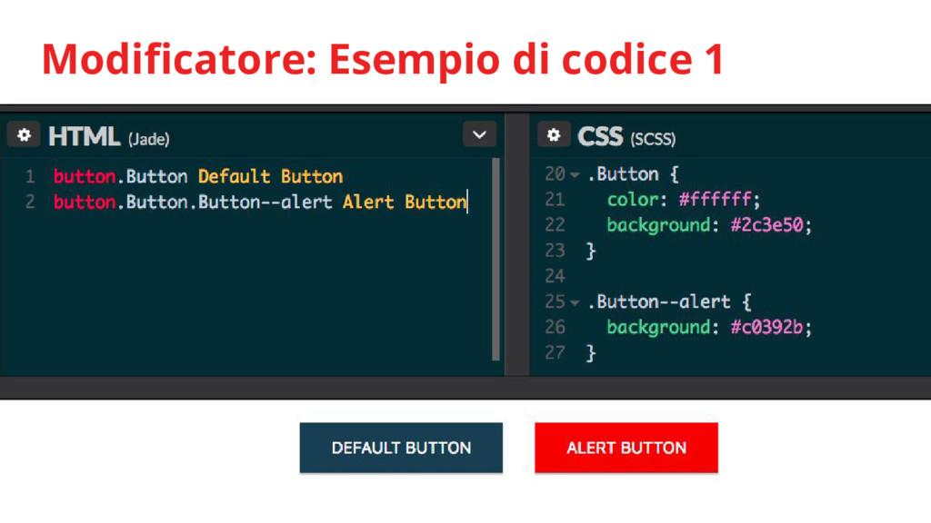 Modificatore: Esempio di codice 1