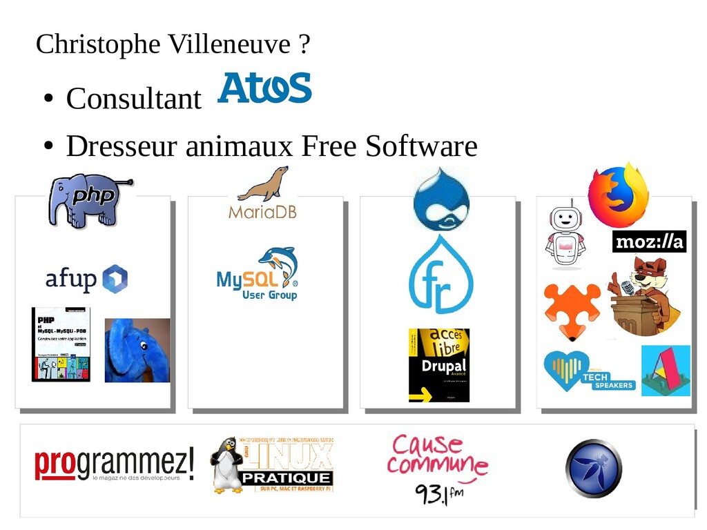 Atos open source - afup – lemug.fr – mariadb – ...