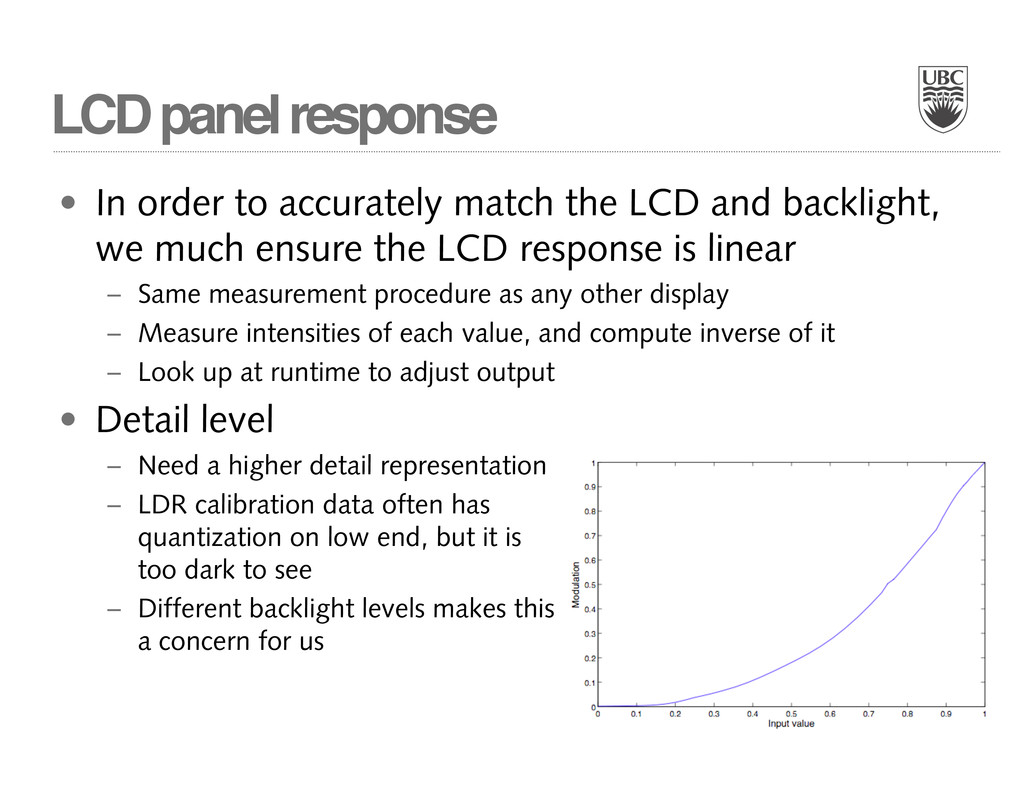 LCD panel response • In order to accurately mat...