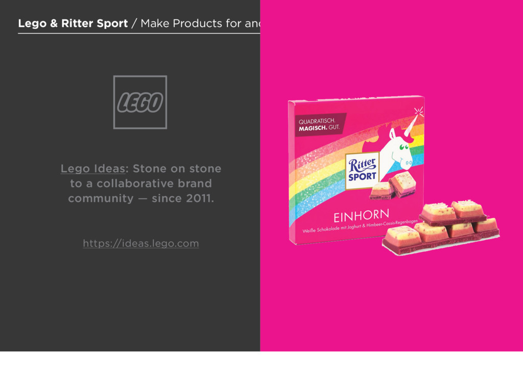 11 Lego & Ritter Sport / Make Products for and ...