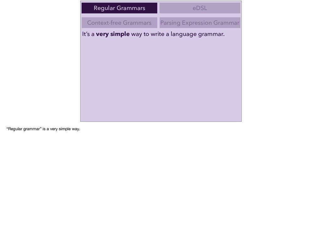 Context-free Grammars Parsing Expression Gramma...