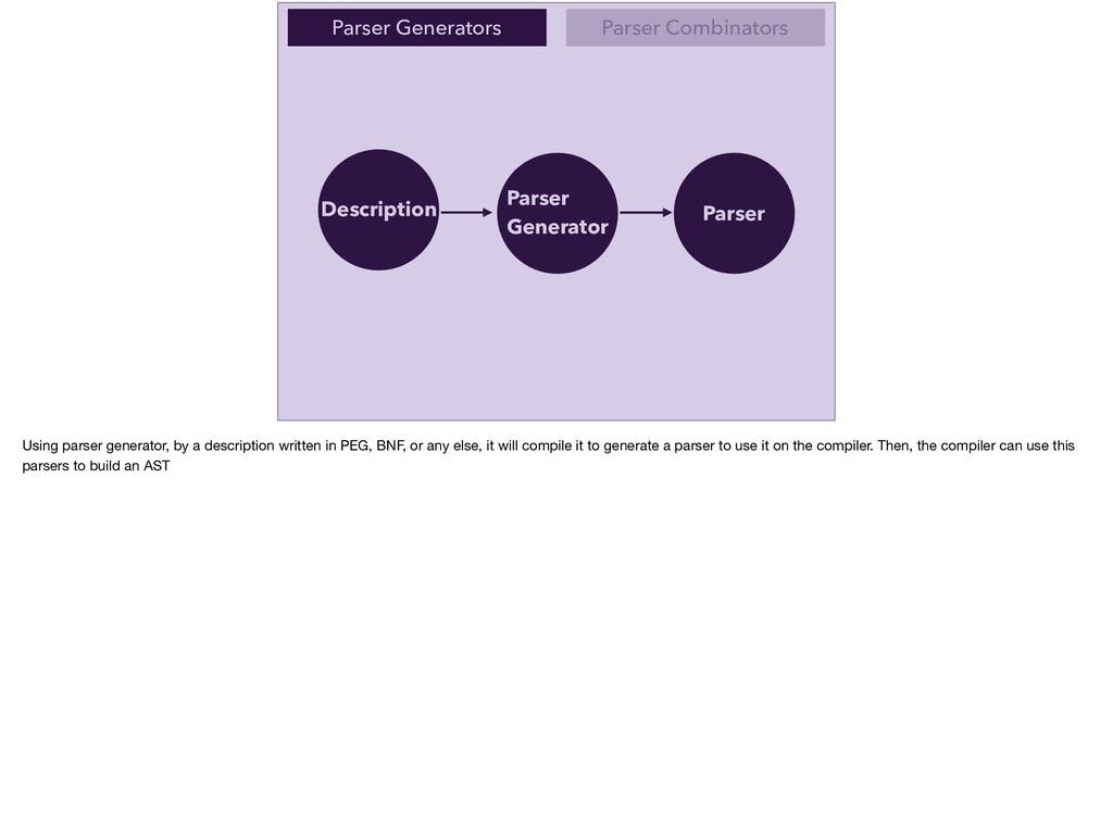 Parser Generators Parser Combinators Descriptio...