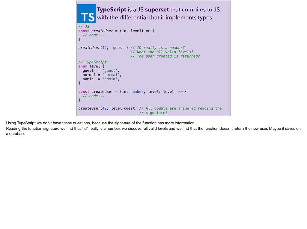 // TypeScript enum level { guest = 'guest', nor...