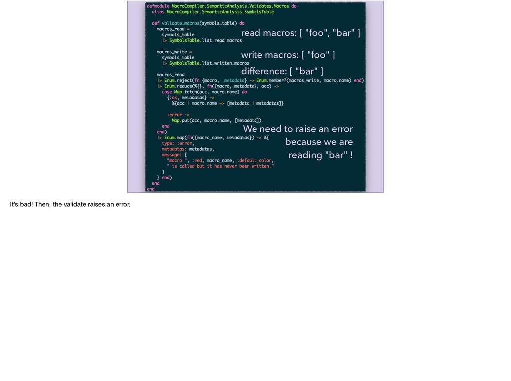 "read macros: [ ""foo"", ""bar"" ] write macros: [ ""..."