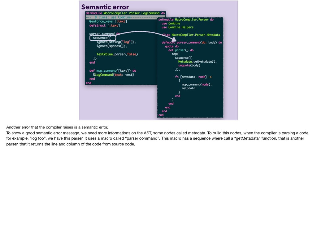 log foo Semantic error Another error that the c...