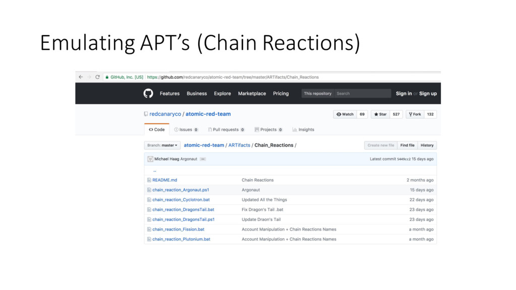 Emulating APT's (Chain Reactions)