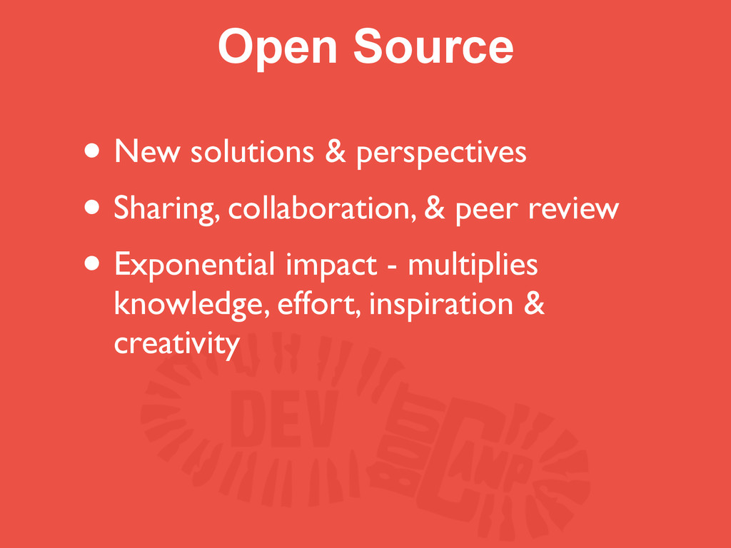 Open Source • New solutions & perspectives • Sh...