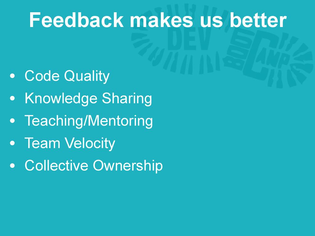 • Code Quality • Knowledge Sharing • Teaching/M...