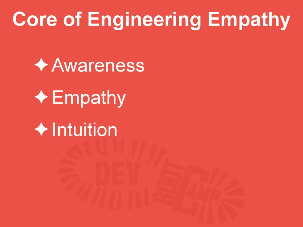 Core of Engineering Empathy ✦Awareness ✦Empathy...