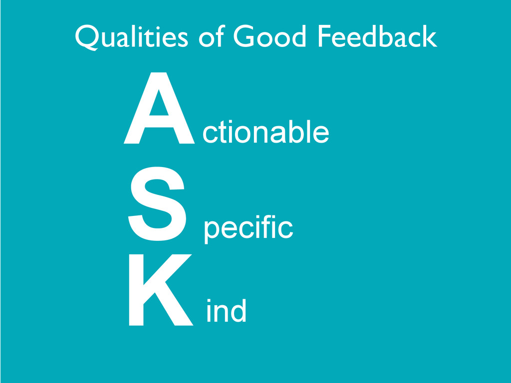 ctionable Specific A ind K Qualities of Good Fe...