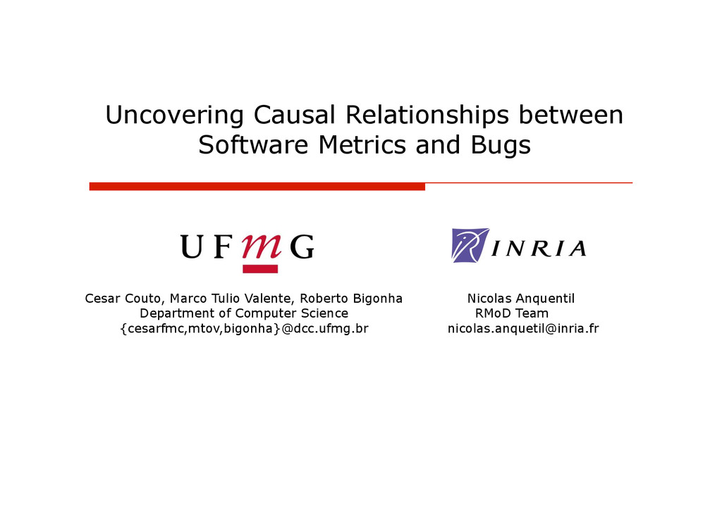 Uncovering Causal Relationships between Softwar...
