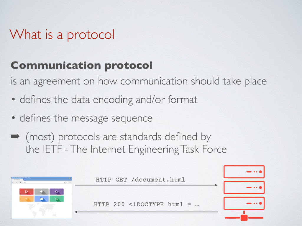 What is a protocol Communication protocol is an...