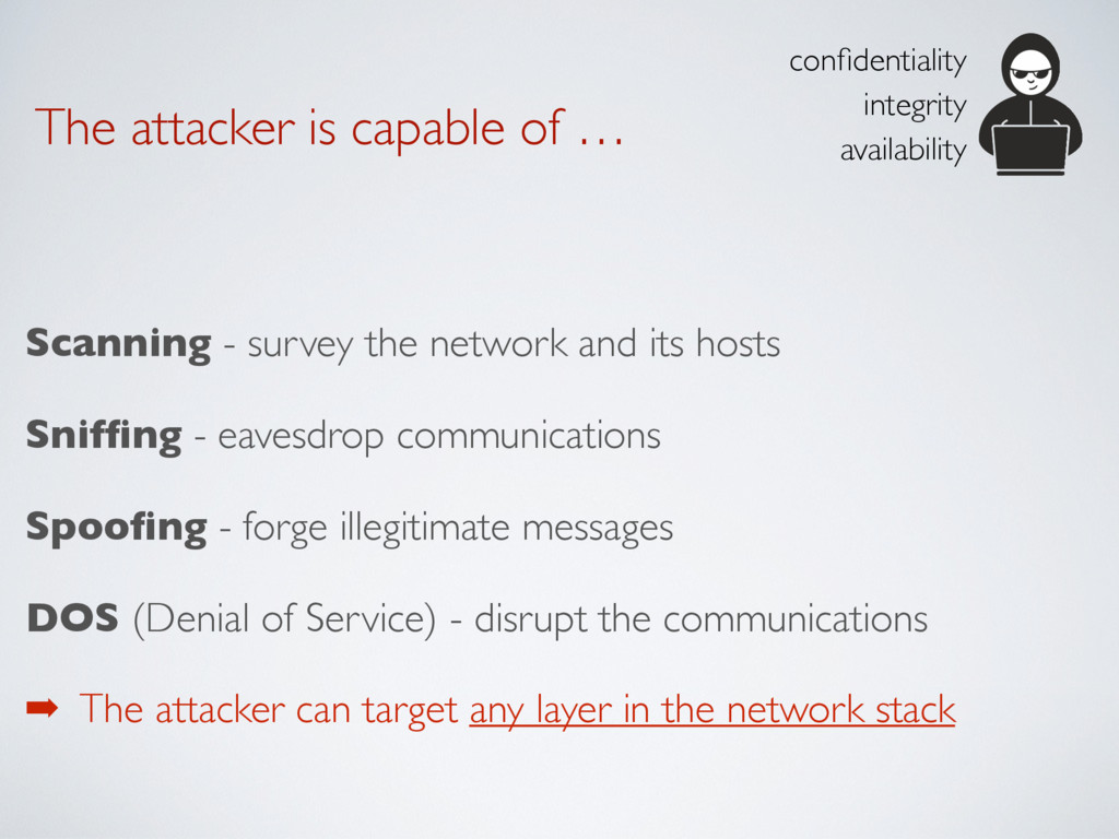 The attacker is capable of … Scanning - survey ...