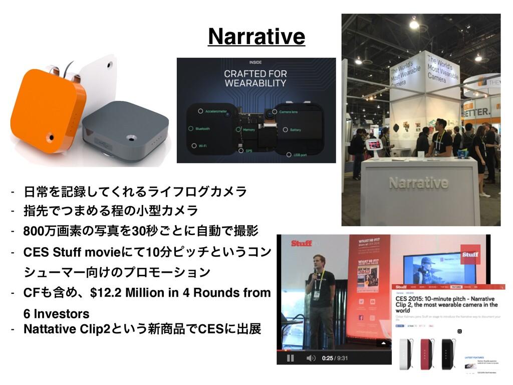 Narrative - ৗΛهͯ͘͠ΕΔϥΠϑϩάΧϝϥ! - ࢦઌͰͭ·ΊΔఔͷখܕΧϝ...